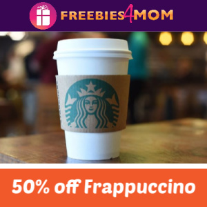 50% off Grande Frappuccino at Starbucks Today