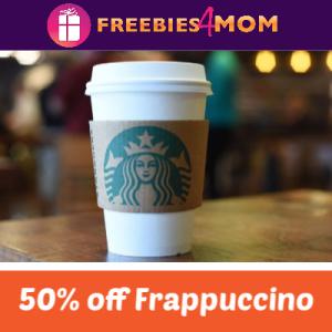 50% off Grande Frappuccino at Starbucks