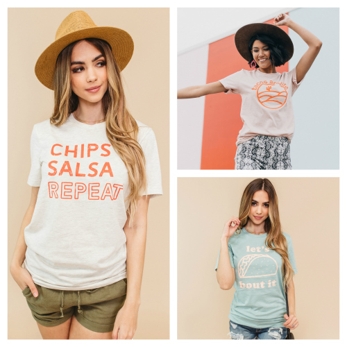 Taco Tees 2 for $30 (thru 5/10)