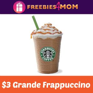 $3 Grande Frappuccino at Starbucks Today