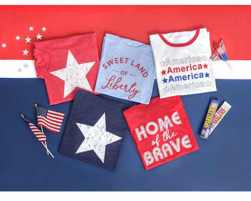 50% off Patriotic Styles (Start at $7.50)