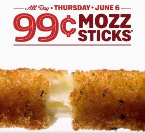 $0.99 4-piece Mozzarella Sticks at Sonic