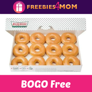 Krispy Kreme Free Original Dozen (w/purchase) 7/4