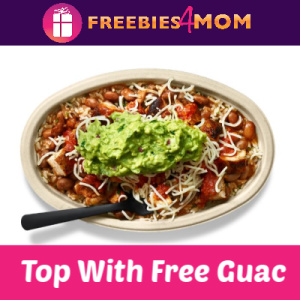 Top Your Chipotle Entrée With Free Guac (7/31)