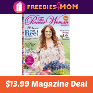 Magazine Deal: The Pioneer Woman $13.99