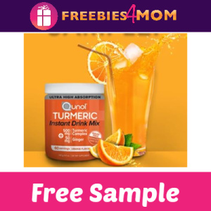 Free Sample Qunol Turmeric Instant Drink Mix