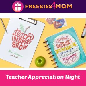 Teacher Appreciation Night at Walmart 7/13