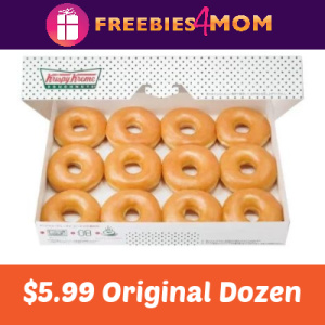 $5.99 Dozen at Krispy Kreme 8/21