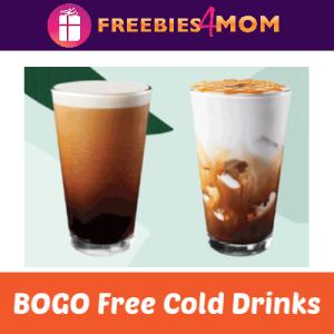 Starbucks BOGO Free Cold Drinks