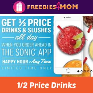 Half Price Drinks at Sonic All Day (thru App)