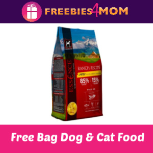 Free 4# Bag of Essence Dog & Cat Food