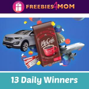 Sweeps McCafé IWG (13 Daily Winners)