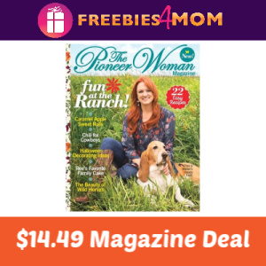 Magazine Deal: The Pioneer Woman $14.49