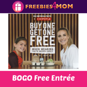 Chipotle BOGO Free With Youth Soccer Jersey