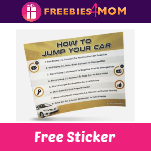 Free How To Jump Your Car Battery Sticker