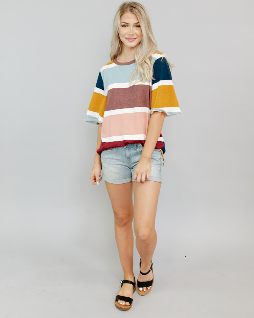 30% off Striped Tees (Starting at $8.50)