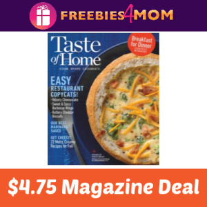 Magazine Deal: Taste of Home $4.75