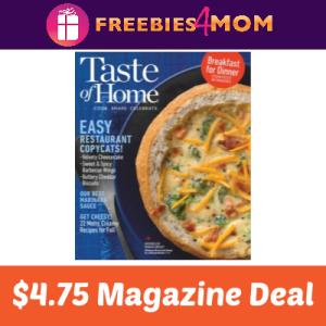Magazine Deal: Taste of Home $4.75