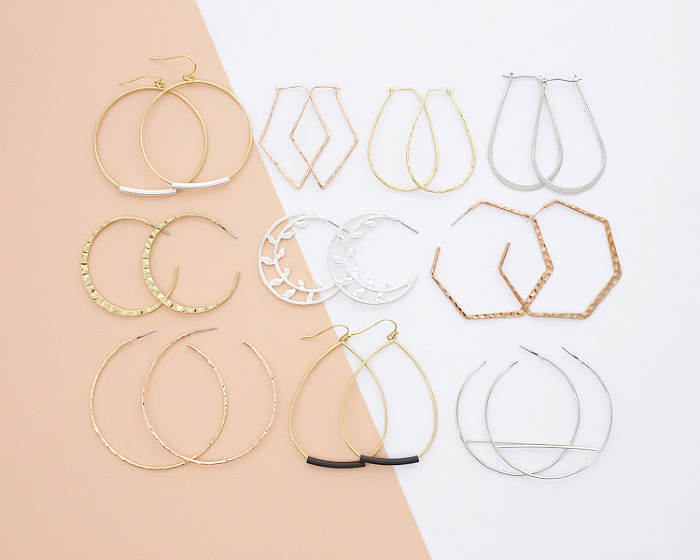 2 Pair Hoop Earrings $12 ($30 Value)