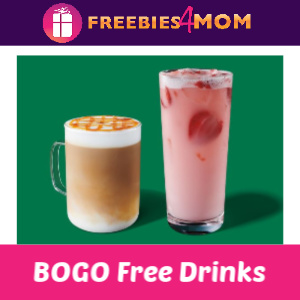 Starbucks BOGO Free Any Drink 2-7 pm