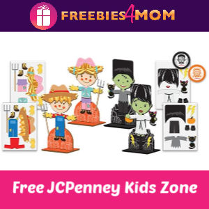 JCPenney Kid Zone Free Activities 10/12