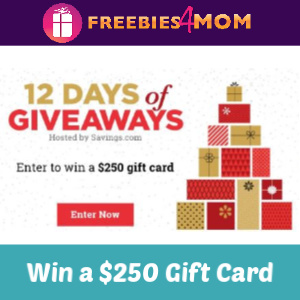 Enter to Win a $250 Gift Card