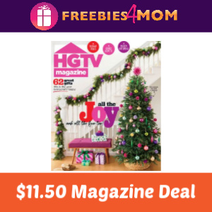 Magazine Deal: HGTV $11.50