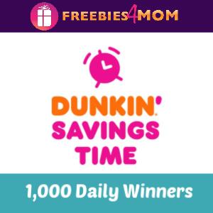 Sweeps Dunkin' Savings Time