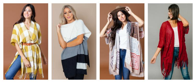 40% off Winter Ponchos, Kimonos & Wraps