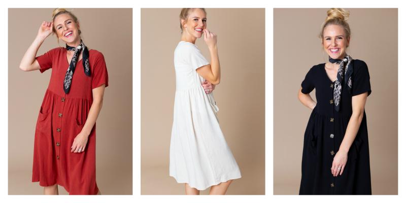 Lani Button Front Dress $26.95 ($46.95 Value)