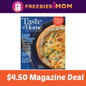 Magazine Deal: Taste of Home $4.50