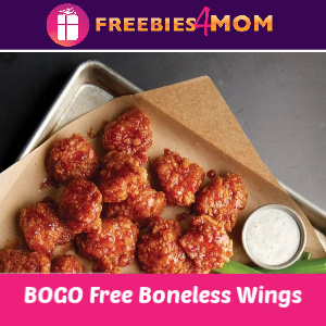 Buffalo Wild Wings BOGO Free Boneless Wings