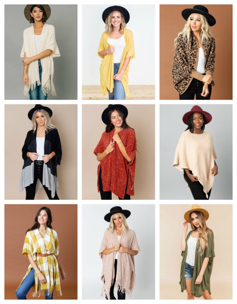 Ponchos & Kimonos 2 for $28