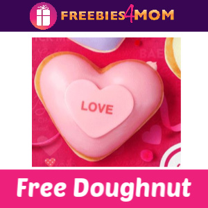 Free Conversation Heart Doughnut at Krispy Kreme