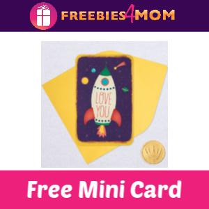 Free Hallmark Mini Card (w/any purchase)