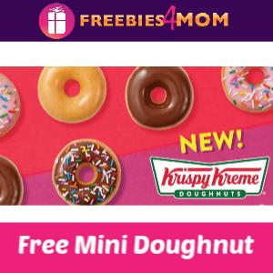Free Mini Doughnut at Krispy Kreme (Mondays)