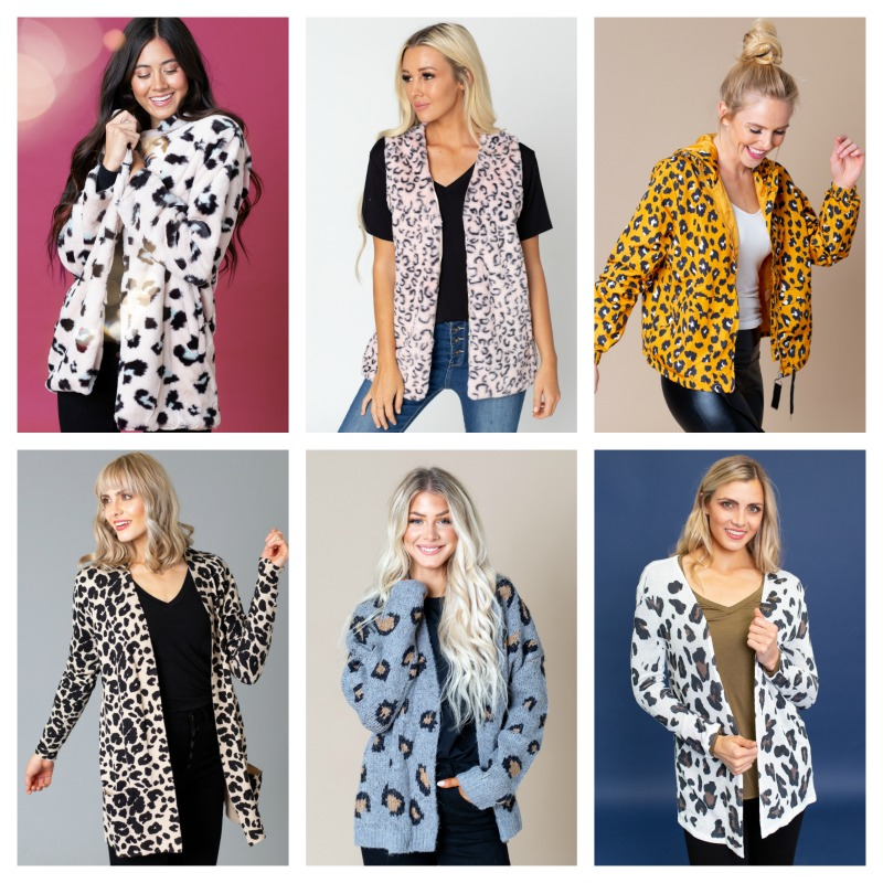 40% off Leopard Cardigans & Outerwear
