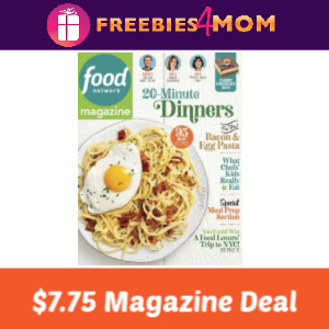 Magazine Deal: Food Network $7.75