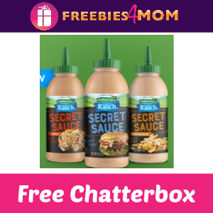 Apply To Be a Free Hidden Valley Ranch Secret Sauce Chatterbox