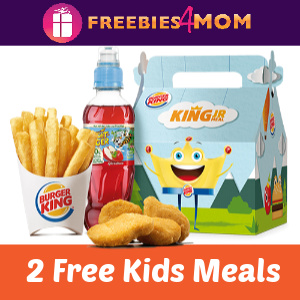 2 Free Kids Meals with any Burger King purchase
