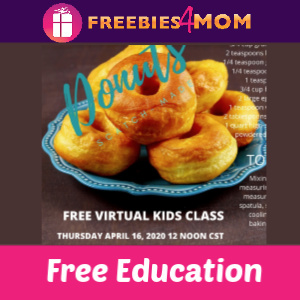 🍩Free Live Kids Cooking Classes