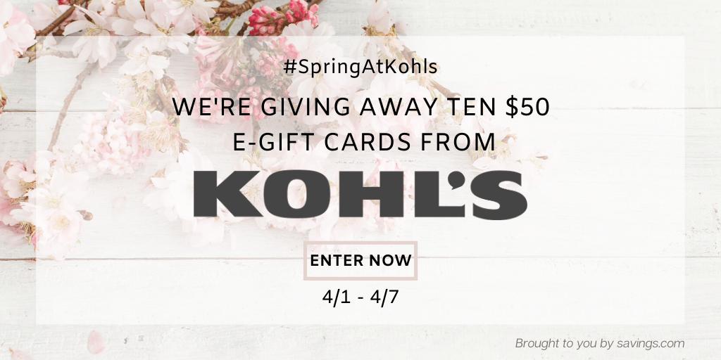 $50 Kohl's Giveaway (10 winners)