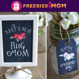 💐Free Chalkboard Mother's Day Signs, Card & Tags from Fedex