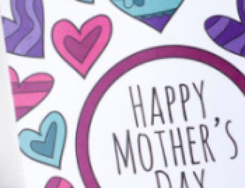 💐Free Mother's Day Coloring Card with Hearts