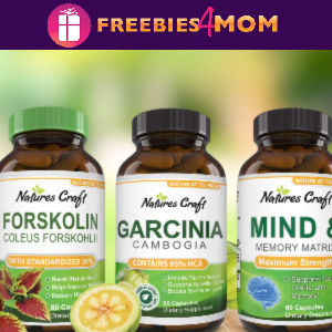 Free Sample Natures Craft Vitamins