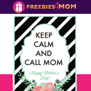 "💐Free ""Keep Calm and Call Mom"" Mother's Day Printables from Soho Sonnet"