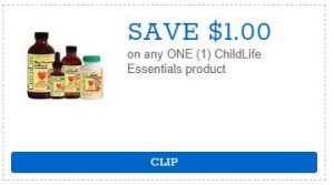 Coupon: Save $1 on ChildLife Essentials