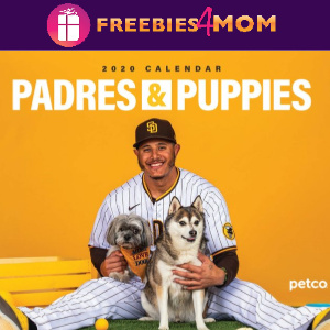 🐶Free Printable 2020 Padres & Puppies Calendar
