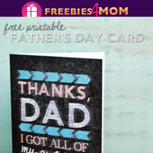 🙋‍♂️Free Printable Chalkboard Father's Day Card