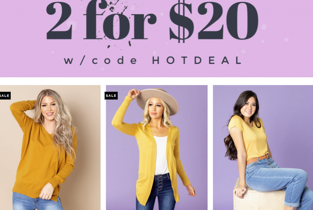 🤩2 for $20 at Cents of Style